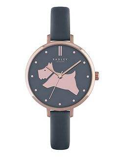 Radley shingle leather strap watch