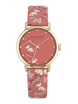 Radley papaya leather strap watch
