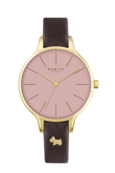 Radley Radley pink dial with tan leather strap watch