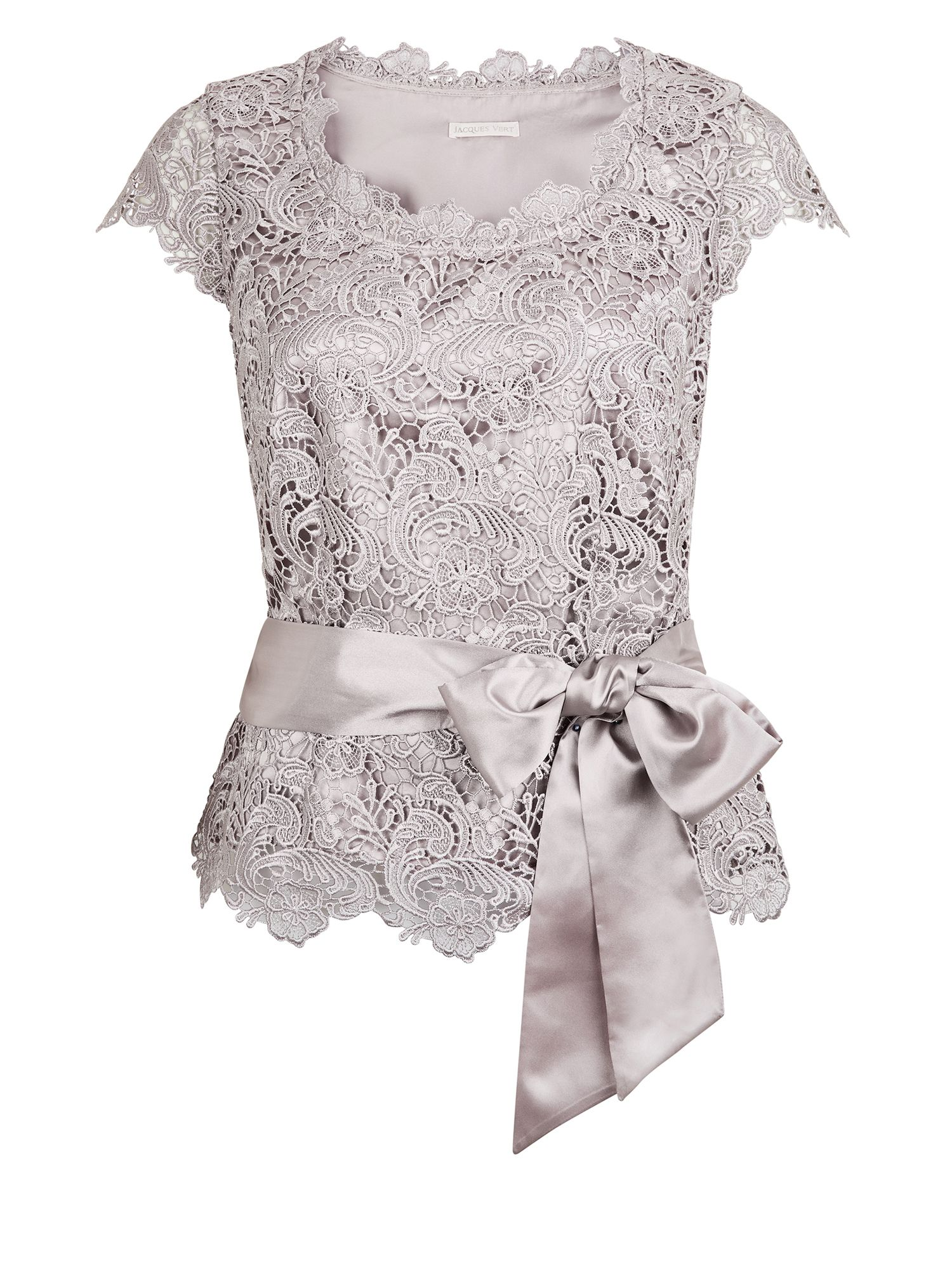 Luxury lace belted top