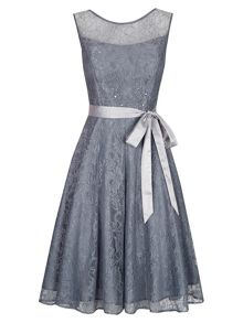 Bead and Lace Prom Dress