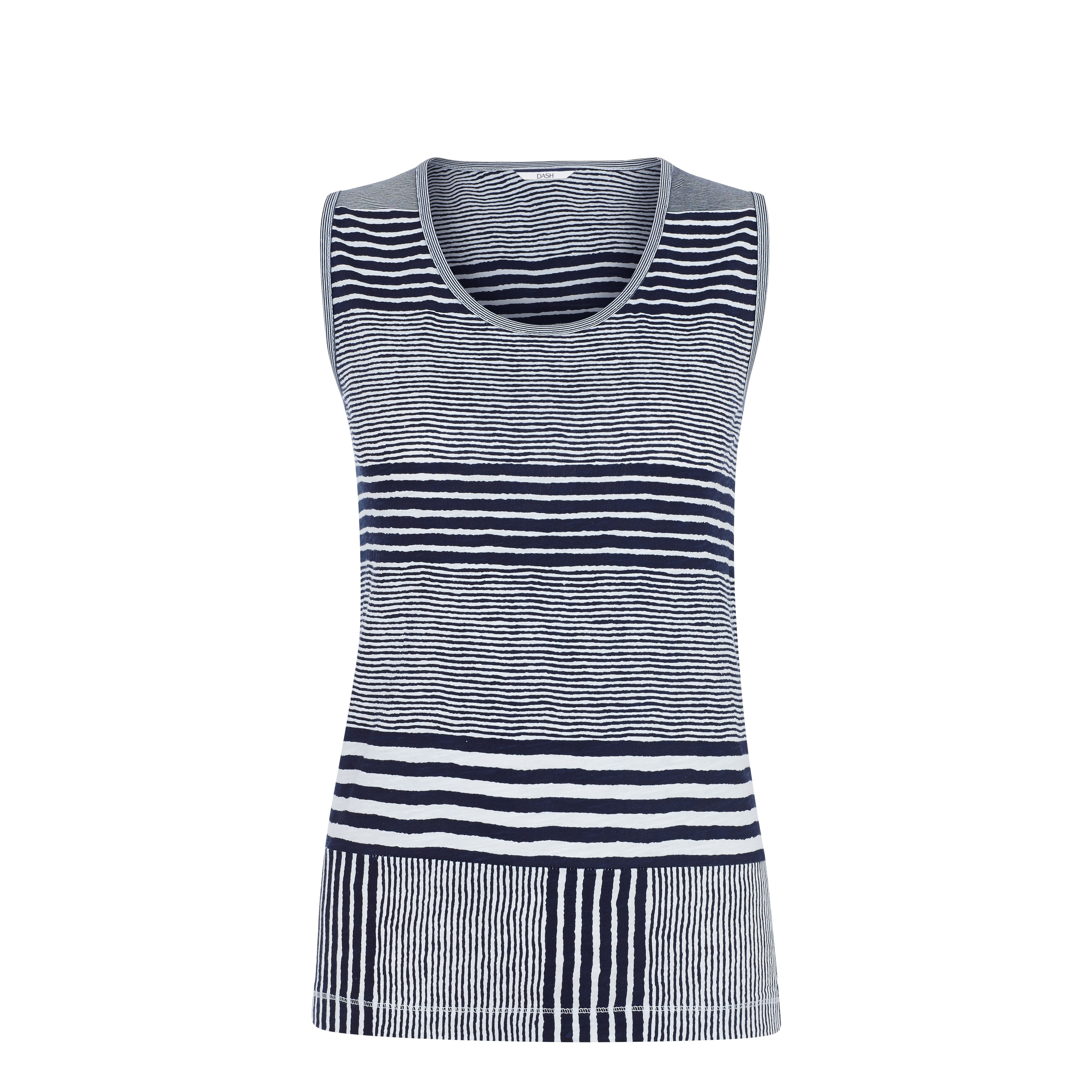 Varied Stripe Vest