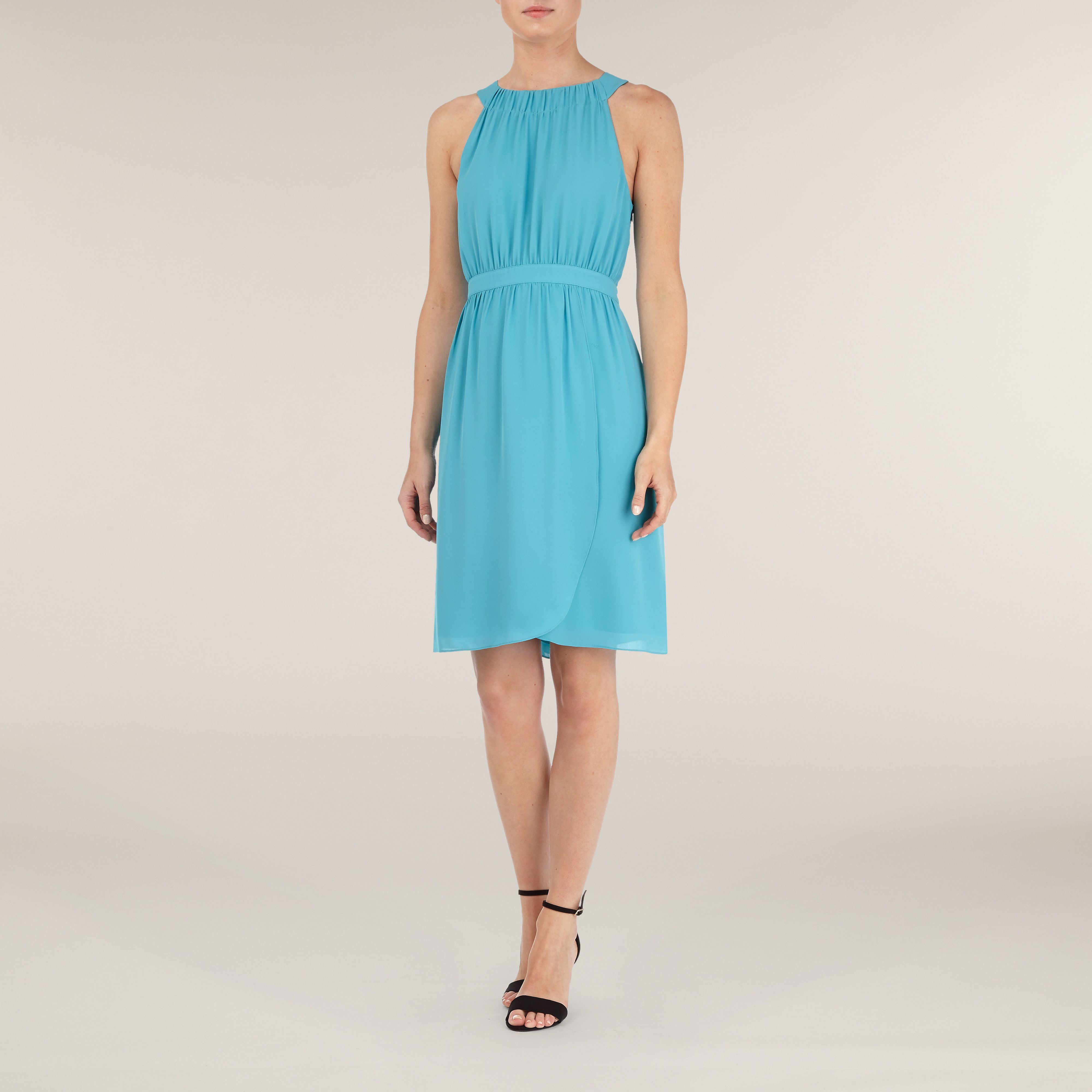 Halter Neck Wrap Dress