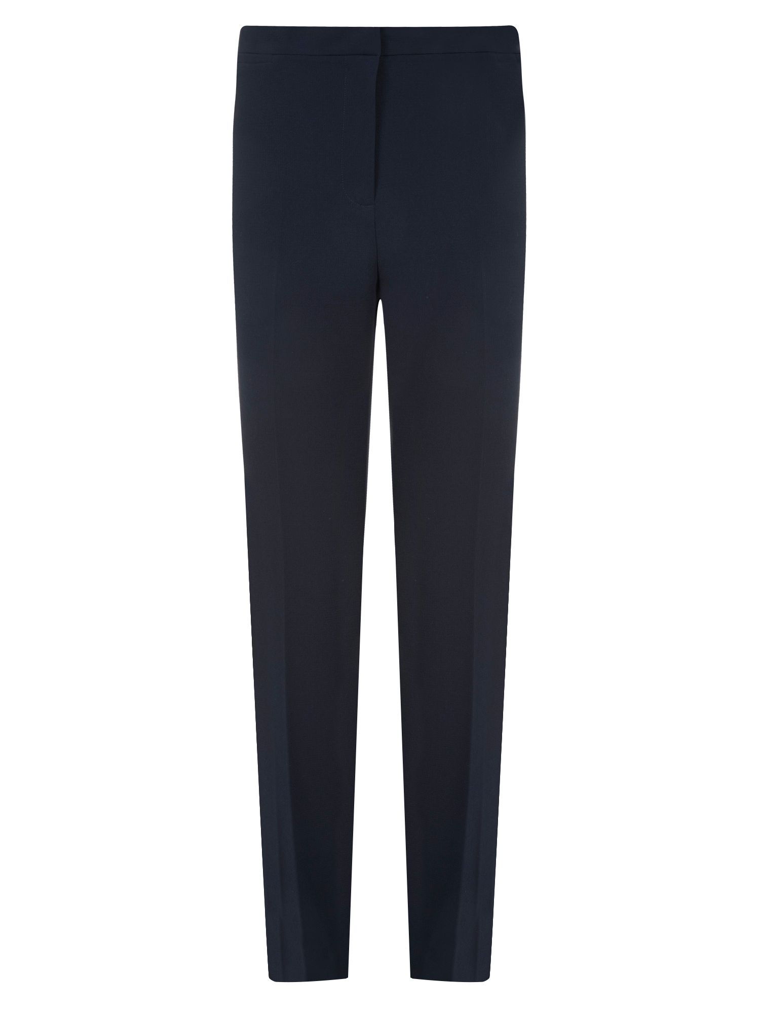 Navy Textured Trouser