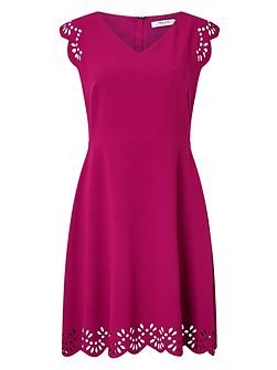 Arlia Scallop Cutwork Dress