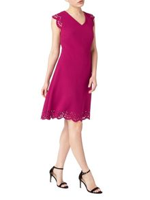 Precis Petite Arlia Scallop Cutwork Dress