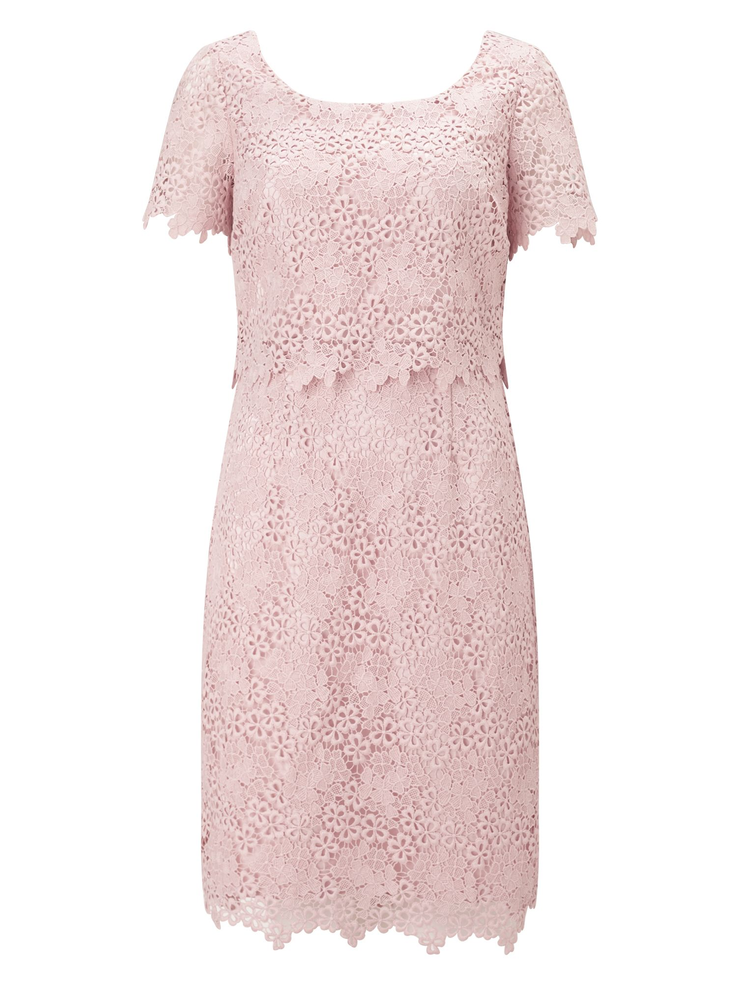 Jacques Vert Petite Ditsy Lace Dress, Pink
