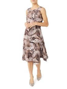 Jacques Vert Petite Printed Flared Dress