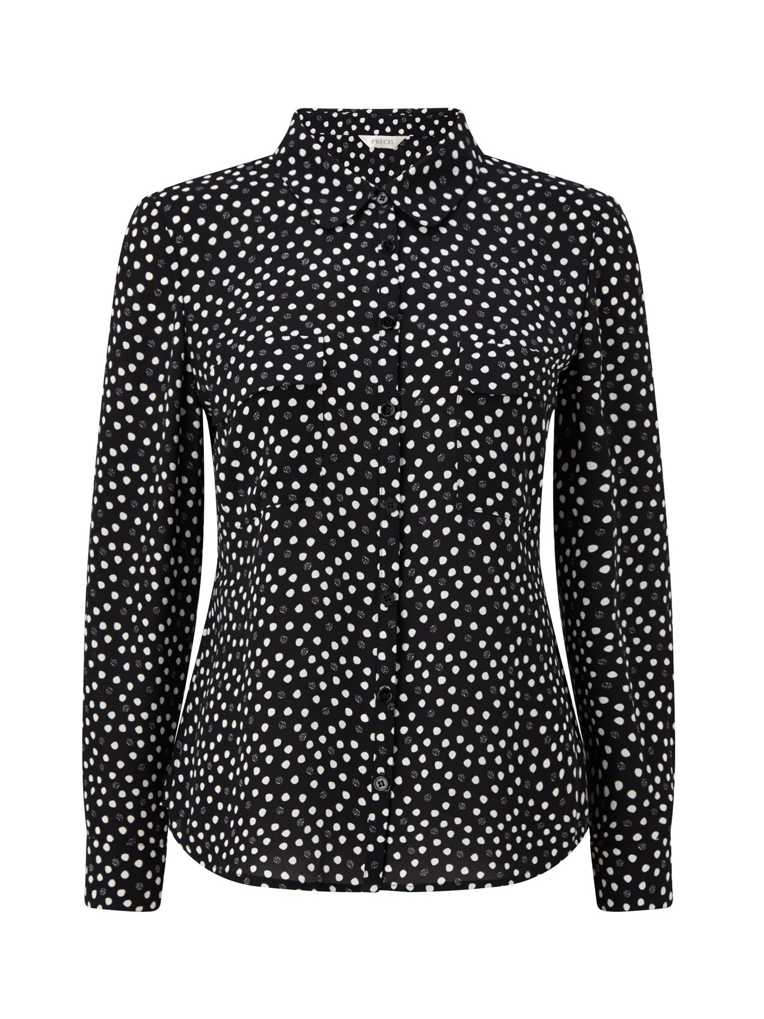 Precis Petite Ivy Spot Print Blouse, Multi-Coloured