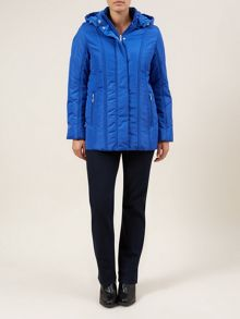 Blue Seamed Detail Coat