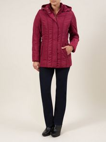 Dark Pink Seamed Detail Coat