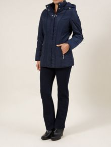 Navy Seamed Detail Coat
