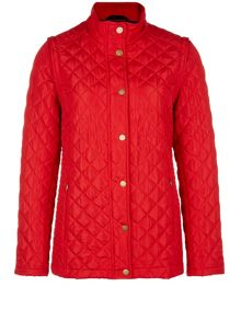 Dash Red Zip-off Sleeve Contrast Coat