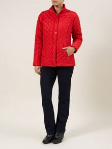 Red Zip-off Sleeve Contrast Coat