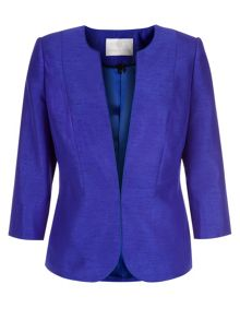 Elegant Collarless Jacket