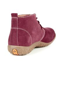 Plum Suede Ankle Boots