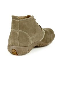 Stone Suede Ankle Boots