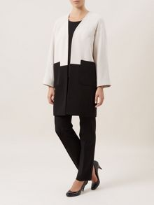Colour Block Longline Jacket