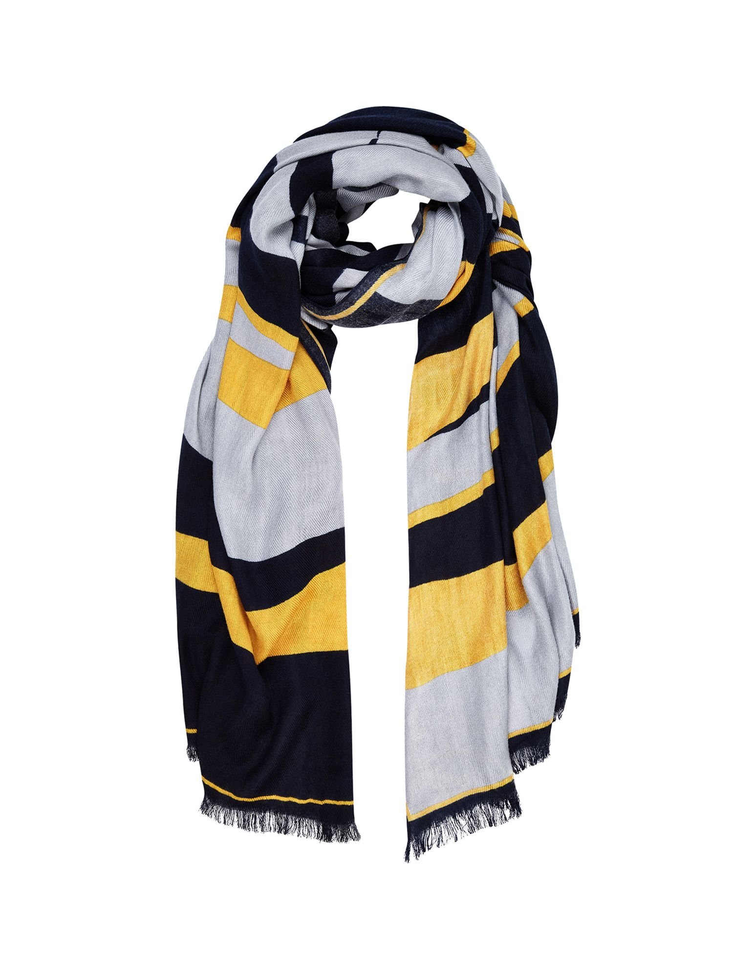 Ochre Colour Block Scarf