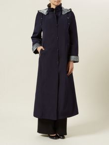 Navy Long Mac
