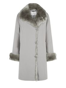 Mink Short Faux Fur Trim Mac