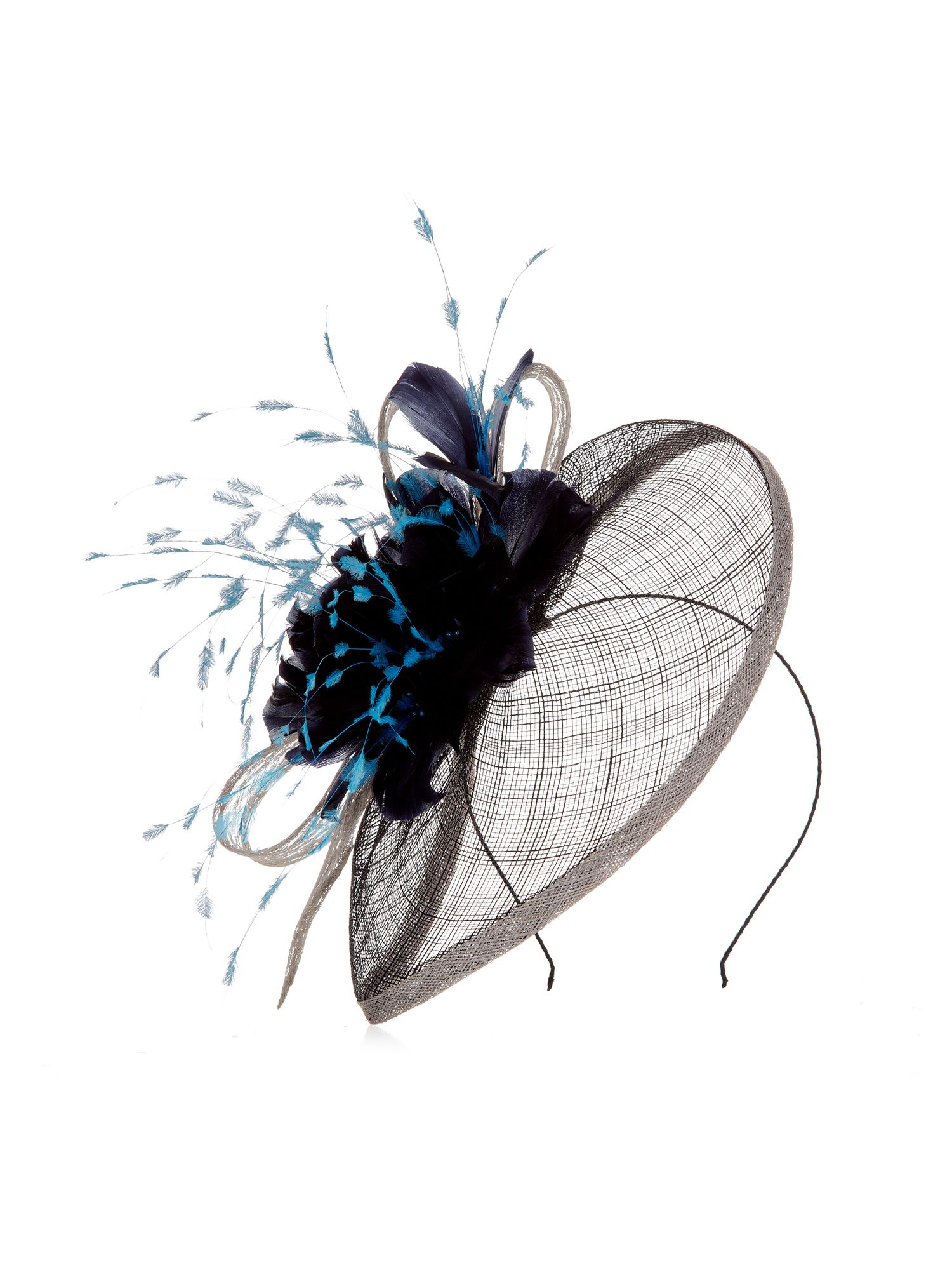 Feather flower trim fascinator