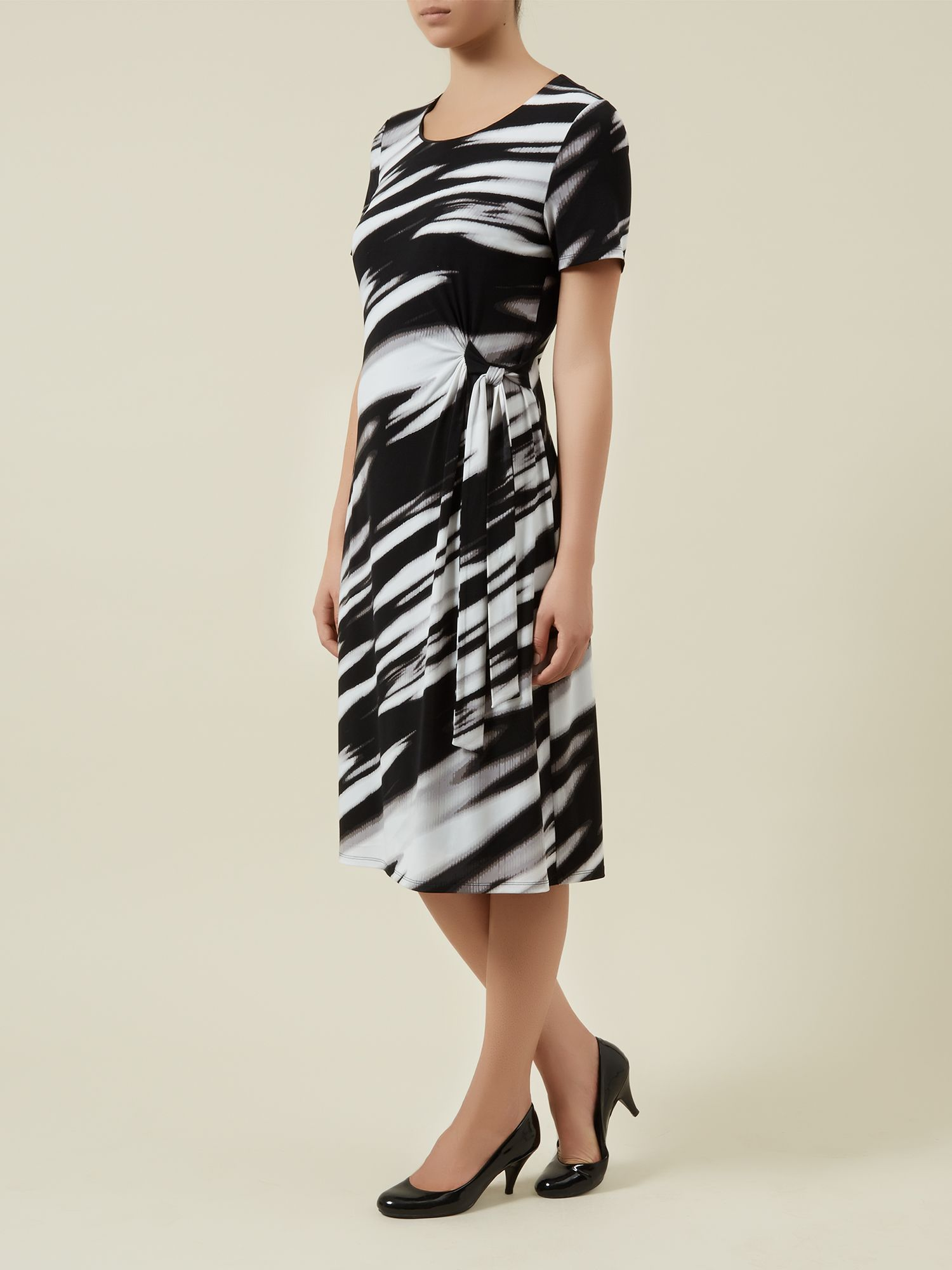 Waterstripe jersey dress