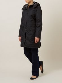 Black Long Padded Waterproof Coat