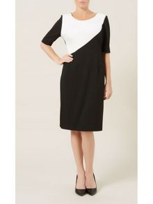 Asymmetric Ponte Dress