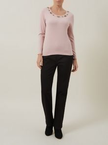 Embellished Neck Jumper