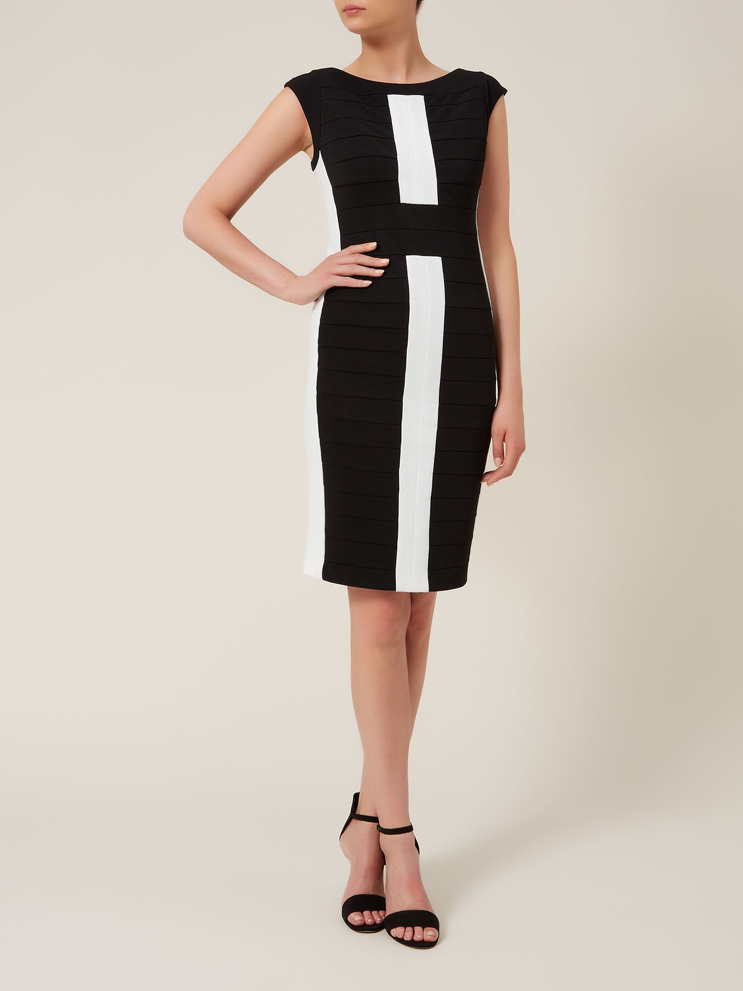 Black & Ivory Bandage Dress