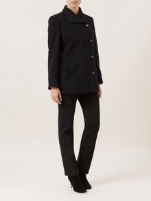 Black Toggle Coat