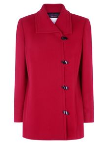 Red Toggle Coat