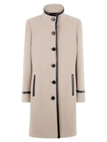 Camel Leatherette Coat