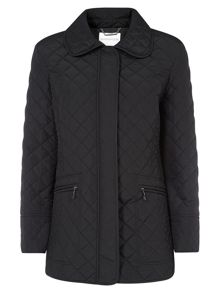 Black Quilted Short Coat