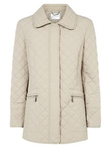 Oyster Quilted Short Coat
