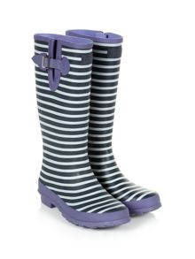 Stripe Print Welly
