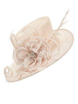 Large Silk Flower Hat