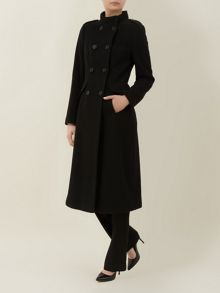 Black Funnel Neck Coat