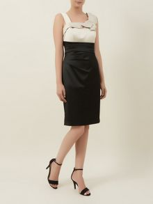Black & Champagne Sateen Dress