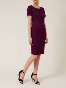 Black & Wine Lace Dress