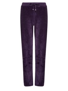 Aubergine Velour Trousers Regular