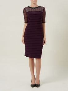 Plum Pleated Dress