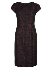 Berry and Black Shift Dress