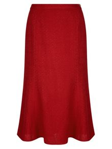 Red Fit & Flare Skirt