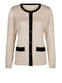 Stone Cable Cardigan