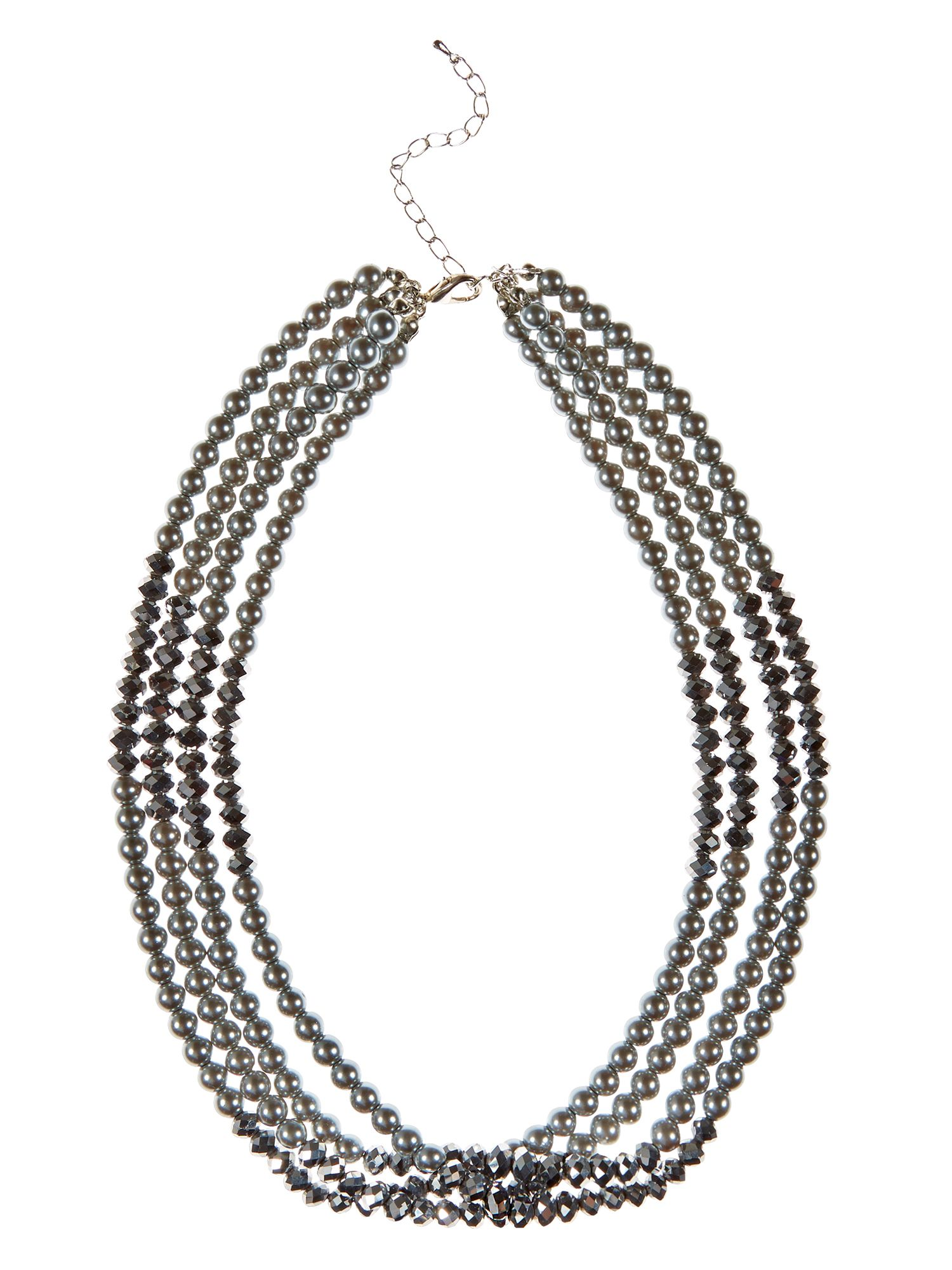 Platinum bead necklace