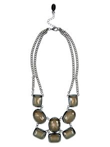 Gunmetal & Bead Necklace
