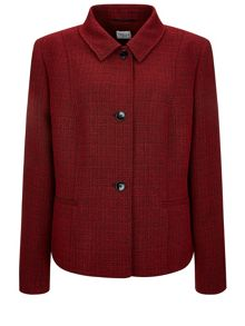 Cardinal red melange jacket