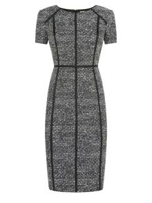 Black and White Textured Dress
